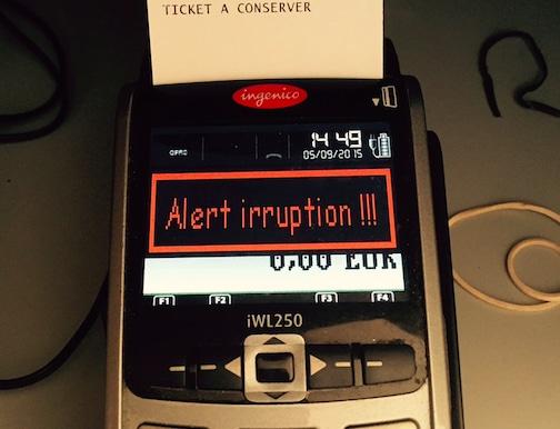 Alert irruption