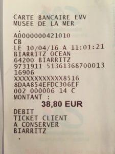 ticket carte bancaire